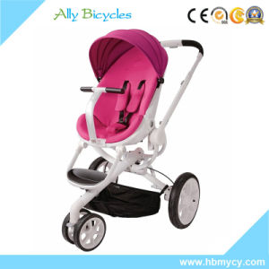 New Product 3 in 1 Travel System Reversible Seat Red Baby Stroller pictures & photos