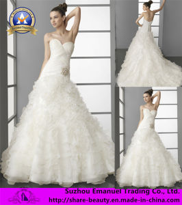 2014 Brand New a-Line White Lace Sweetheart Chiffon Wedding Dresses Bridal Gowns (OL005)