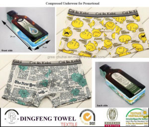 2015 Promotional Gift Fashion Compressed Traveling Printed Boxer Underwear Df-2021 pictures & photos