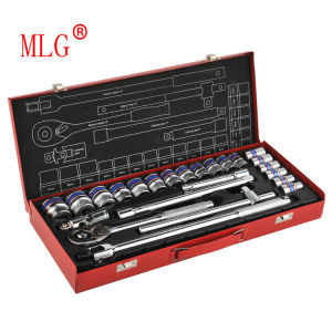 2015 Hot Sale 25PCS 1/2′′ Dr. Socket Wrench Set with F Wrench (MLG-2020)