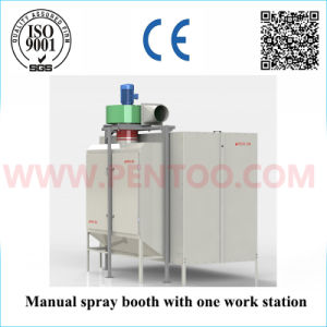 Manual Powder Spray Booth in Powder Coating Line with ISO9001 pictures & photos