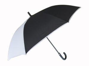 30inch Auto Fiberglass Frame Golf Umbrella (GU011) pictures & photos