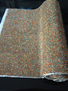 45*120 Cm Mixed Color Aluminum Mesh Hot Fix Rhinestone (050902)