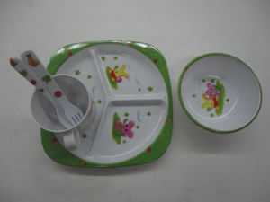 4PCS Creative Children Mlamine Tableware