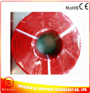 Color Red Diameter 2mm 220V 0.1ohm/M Silicone Rubber Heating Cable