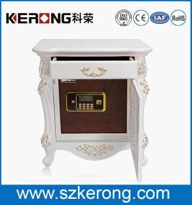 Milky High End Furniture Bedside Table Hidden Fingerprint Hotel Safe Box