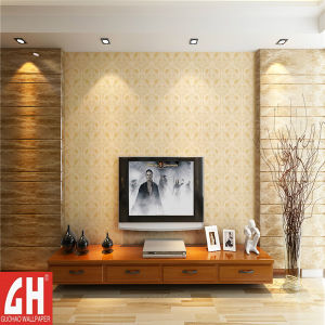 China Pvc Heat Resistant Textured Drawing Room New Wallpaper 2051
