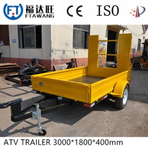 Single Axle Box Trailer Welding Cage Cargo Trailer pictures & photos