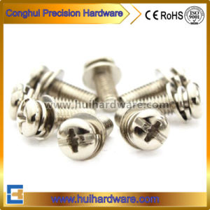 Nickel Plated Slot Pan Head Assembled Sem Screw pictures & photos
