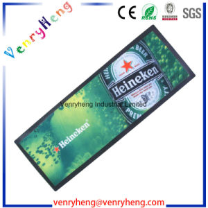Full Color Print Non-Woven Rubber Bar Mat for Promotion Gift