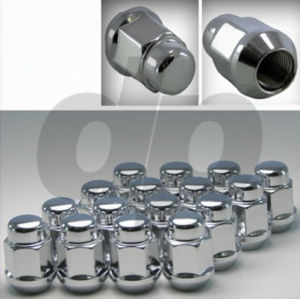 "Chrome Closed-End Bulge Acorn Wheel/Lug Nuts, Cone Seat, 3/4"" Hex pictures & photos"