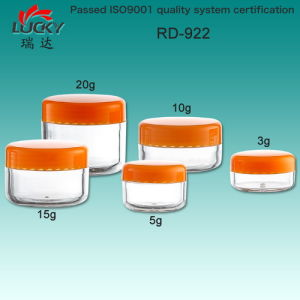 Small Plastic Jar for Cosmetic Packing pictures & photos