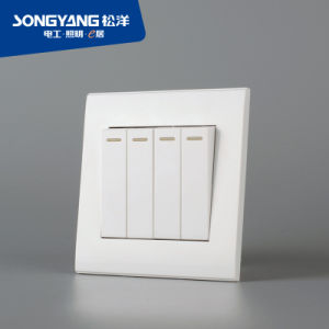 PC White Series 4gang Wall Switch