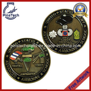 Military School Coin with Soft Enamel