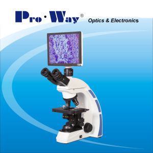 Professional Video Digital LCD Screen Biological Microscope with Software (XSZ-PW208LCD) pictures & photos