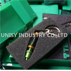Professional Directly Manufacture High Performance Coilover Key Chain. Fashion Tein Coilover Keyring