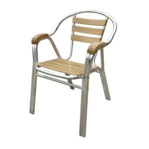 China Aluminum Ash Teak Wood Armrest Chair Double Tube China Ash