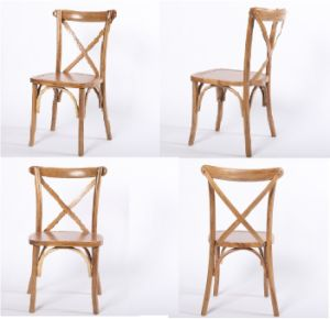 High Quality French Style Wooden Cross Back Chair for Event pictures & photos