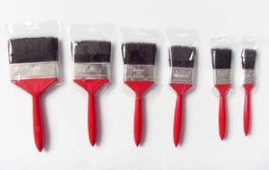 Plastic Handle 620 Paint Brush with Black Bristle Material