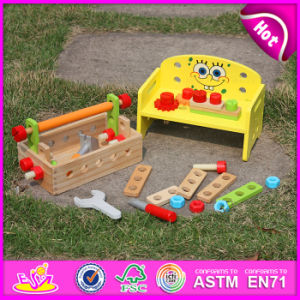 2015 New Promotional DIY Tool Toy for Kids, Funny Wooden Tool Toy for Preschool, Lowest Price Wooden Children Tool Kit Toy W03D060 pictures & photos