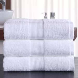 Luxury Egyptian Cotton 16s White Hotel Bath Towel Set pictures & photos