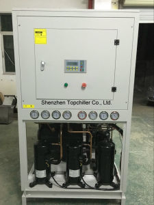 49kw Air to Water Cooled Chiller for Cooling The Glass Vapor Condensators of Evaporation System