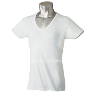 Undershirt Anti-Sweat Slim Fit V Neck Mens T-Shirts pictures & photos