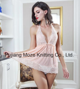 Ladies Sexy Lace Halter Baby Doll Night Wear