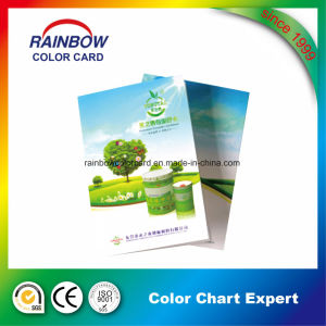 Customized Professional Folded Floor Paint Color Card pictures & photos
