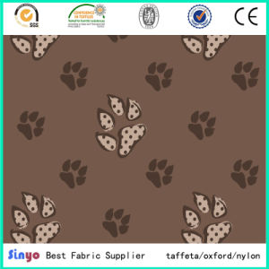 Hot Sale 500d PU Coated 160cm Dog Foot Printed Fabric with Waterproof pictures & photos