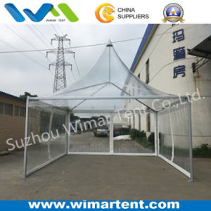 5X5m Easy-up Aluminum Frame Clear PVC Pagoda Tent