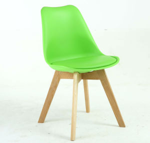 PP Plastci Comfortable Wooden Dining Chair pictures & photos