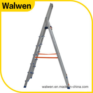 2 M Reinforced Domestic Folding Aluminum Ladder with Safe Rail pictures & photos