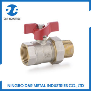Union Connertor Full Bore Butterfly Handle Brass Ball Valve pictures & photos