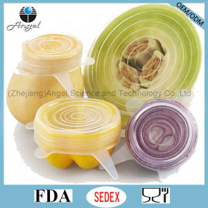 Hot Sale 6PC Kitchen Silicone Food Cover SL16