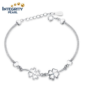 Lucky Four Leaves Fashion 925 Sterling Silver Bracelet