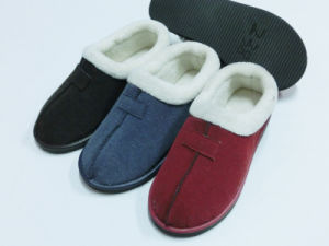 Wonmen Warm Winter Indoor Comfort Nice Soft Slipper with PU pictures & photos