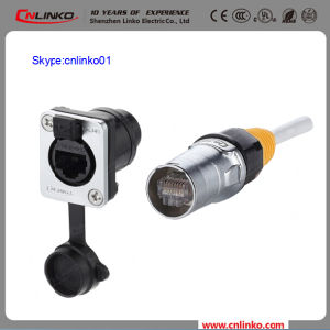 High Quality Clinko Brand 8p8c Adapter Connector IP65 Terminal Plug and panel Mount Socket for Signal Equipment pictures & photos