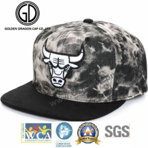 Washing Denim Custom Fitted Hat Snapback Cap with High Quality Embroidery pictures & photos