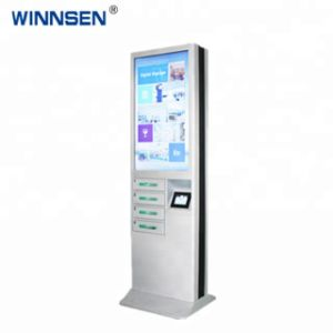 Advertising Mobile Phone Charging Kiosk Locker with 43 Inch LCD for  Advertising for Park Shopping Mall Library