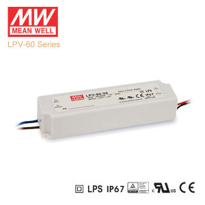 Original Meanwell Lpv-60 Series Single Output Waterproof IP67 LED Driver pictures & photos