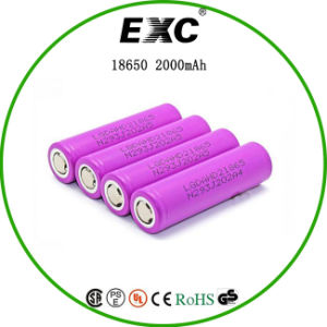 Icr18650 2000mAh 3.7V Rechargeable Battery Li Ion Battery pictures & photos