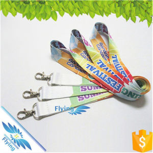 Business Promotion Custom Gift Print Dying Neck Lanyard with Variour Hooks for Decoration