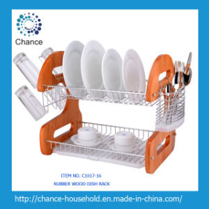 Nature Wooden Dish Rack for Kitchen C1017-16