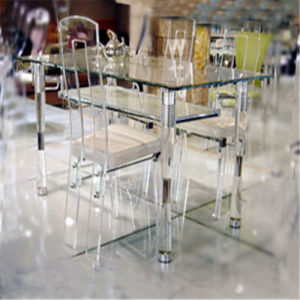 Guangdong Furniture Manufacture Wholesale Glass Dining Table