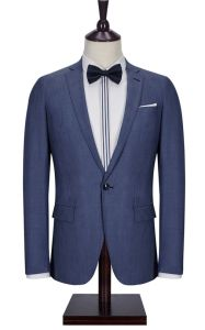 100% Wool Nevy Blue Men Suit pictures & photos