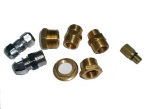 CNC Machining Brass Metal Connector for Air Tool Parts pictures & photos