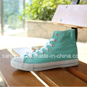 Classic Style Vulcanized Rubber Outsole Canvas Shoes for Women (SNC-02171) pictures & photos