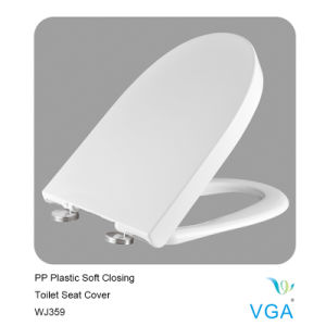PP Plastic Toilet Seat Cover with Soft Closing Wj359