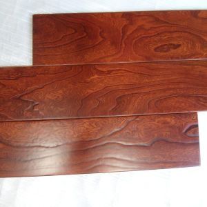 for House Red Color Beautiful Texture Elm Engineered Wood Floors